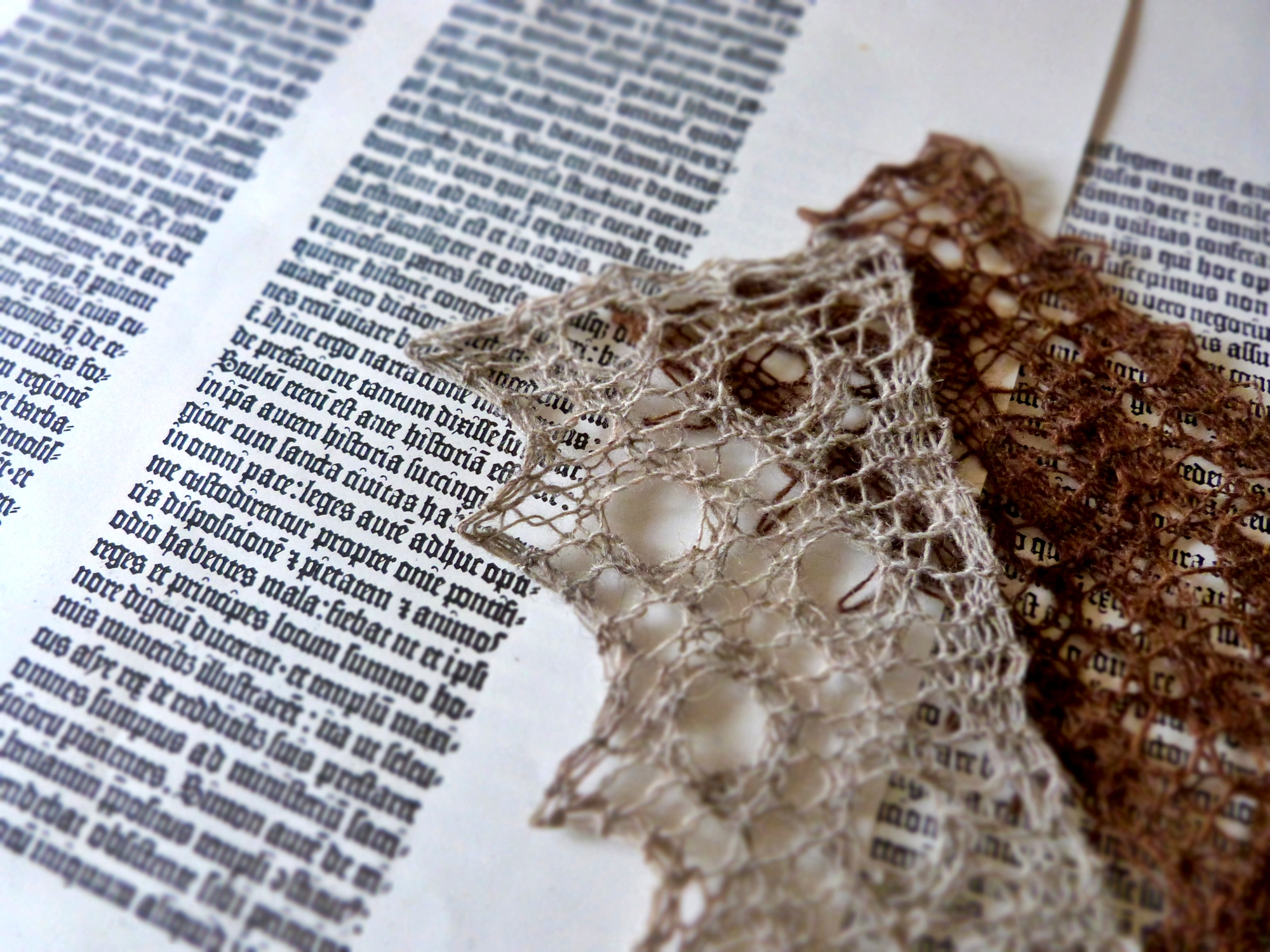 Lace design elements inspired by 14th-16th century primary sources